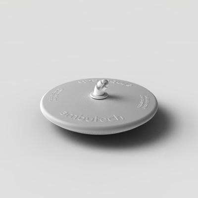 White disk tip for canes