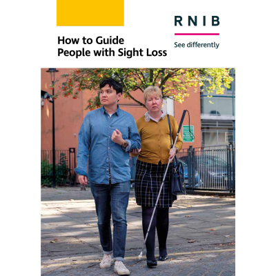 How to guide people with sight loss booklet front cover