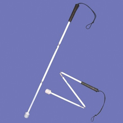 Child's aluminium cane 80cm in white