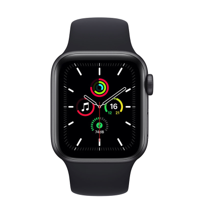 Front view of face of Apple watch