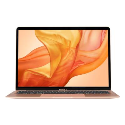 Gold MacBook Air 256GB open showing screen