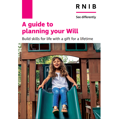 Booklet cover showing girl on a slide