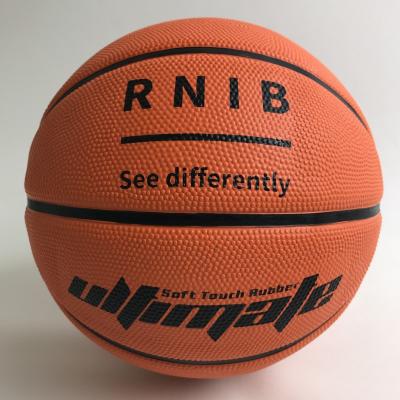 Basketball with RNIB logo visible