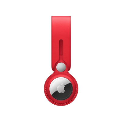 Apple AirTag leather loop in (PRODUCT) Red