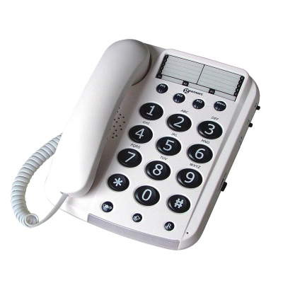 Top view of the Geemarc Dallas 10 big button corded phone