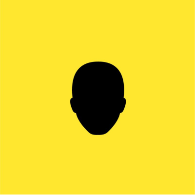 A yellow cover depicting a silhouette face