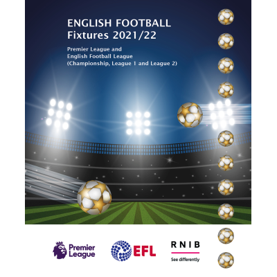 English Football Fixtures 2021-22 front cover