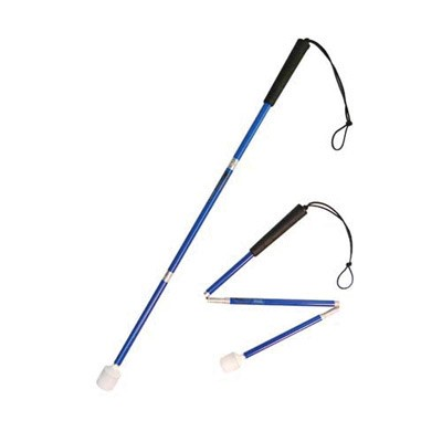 Child's aluminium cane 70cm in blue