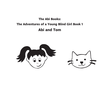 Abi Books cover with Abi's face and Tom the cat's face.