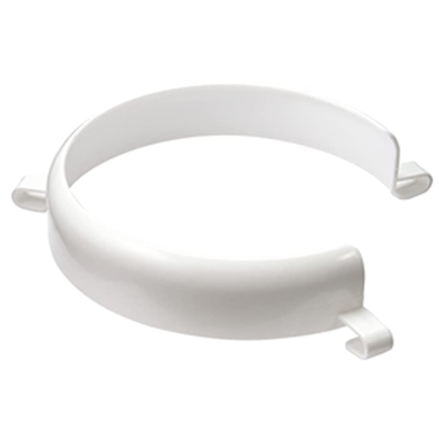 White plate surround against a white background