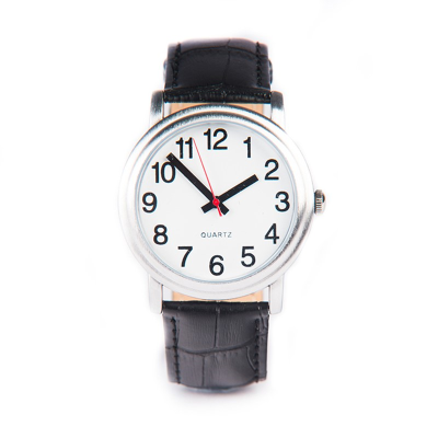 Front view of Large easy-to-see watch against a white background