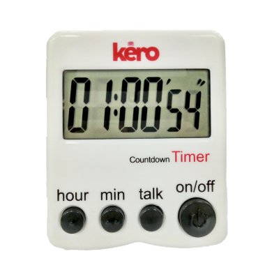 Digital kitchen timer with tactile buttons