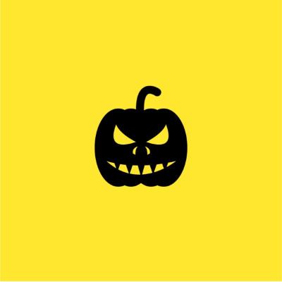 A yellow cover depicting an evil pumpkin