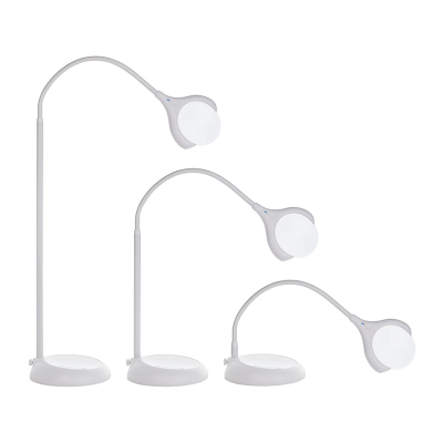 Floor lamp with a flexible arm in three positions