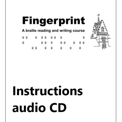 Front case for fingerprint instructional text CD