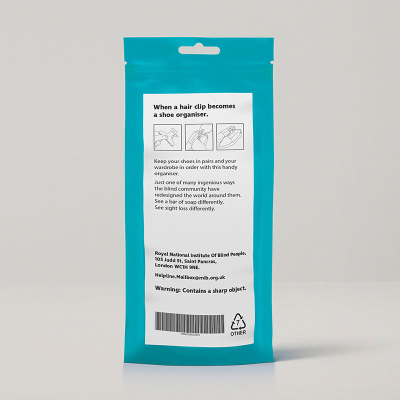 Front view of packaging