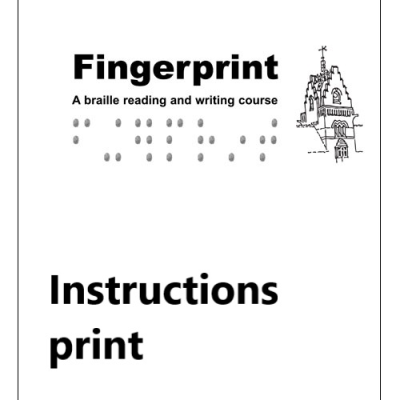 Fingerprint instructions in print front cover