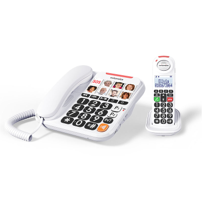 SwissVoice 3155 corded phone and cordless handset