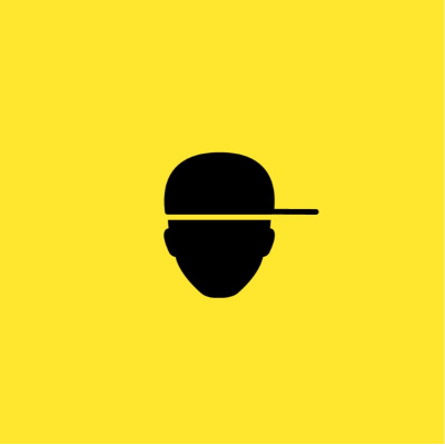 A yellow cover depicting a silhouette head wearing a baseball cap
