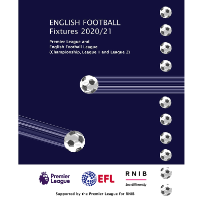 English Football Fixtures 2020-21 front cover