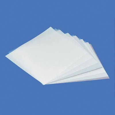 Sheets of plastic embossing film