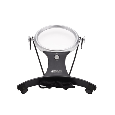 Front view of LED handsfree magnifier against a white background
