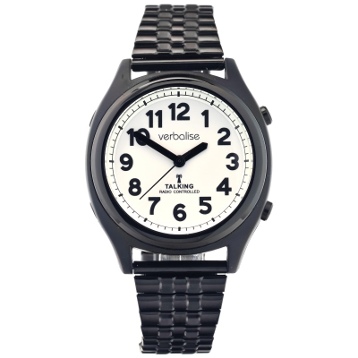 stylish black talking watch