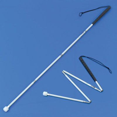 Aluminium folding long cane roller tip