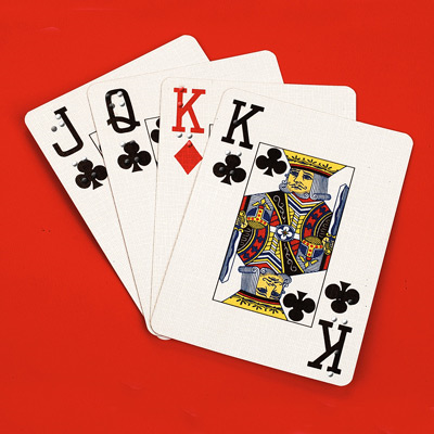 Large print with braille playing cards
