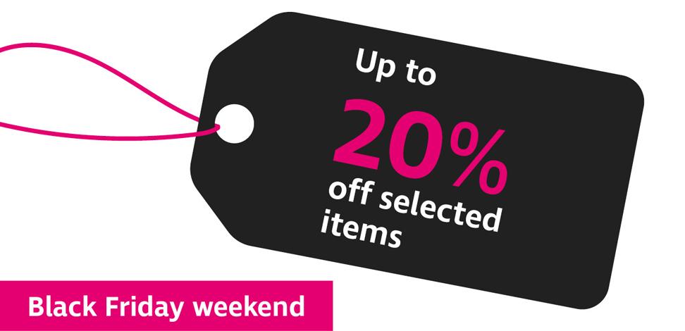Up to 20% off selected items