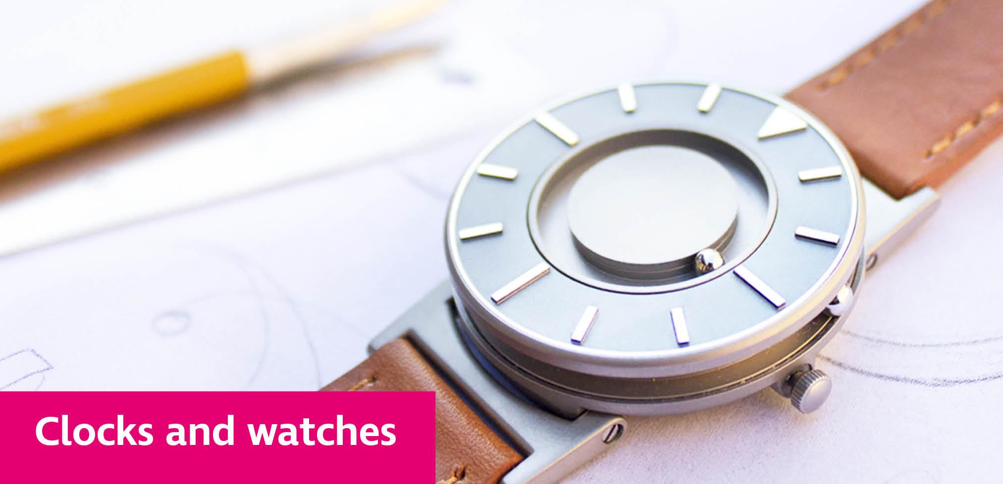 Bradley tactile watch on a desk