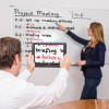 Using the compact HD in a meeting to magnify text on a whiteboard