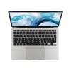 Silver MacBook Air 256GB open showing keyboard