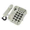 Geemarc Dallas 10 big button corded phone with the phone off the hook