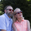 Man and woman wearing the Classic eyeshields