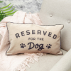 Reserved for dog pillow on a sofa