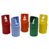 Five eye-drop dispensers multi colour
