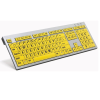 Large print keyboard with black text on yellow keys