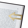 Know your place page marker holding marking a page in a book