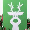 Close up of tactile reindeer card