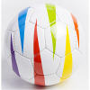 Rainbow blind football with vertical flashes of colour on a white base.