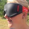 Headshot of lady wearing a Justa Blind sports mask
