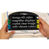 Front view of Amigo HD Portable Video Magnifier showing white text on a black background