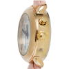 Side view of the RNIB Ladies talking watch with pink leather strap