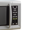 Close up of microwave oven tactile wipe-clean keypad