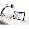 Transformer HD portable magnifier in a upright position next to a tablet