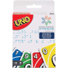 Packaging for the UNO braille edition card game