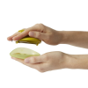 Palmpeeler in use on a person's hand