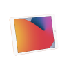 Gold Apple iPad 8th Gen 32GB front of tablet in landscape
