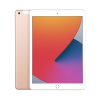 Gold Apple iPad 8th Gen 32GB showing front and back